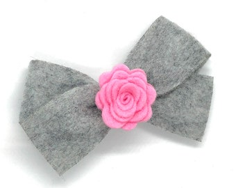 Felt hair bow - felt bow, hair bows, bows for girls, hair clips, baby bows, baby hair bows, toddler bows, girls bows