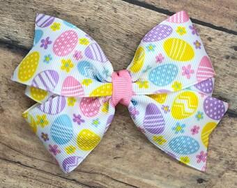 Easter hair bow - Easter bow, girls hair bows, toddler hair bows, baby bows, hair bows, girls bows, 4 inch hair bows