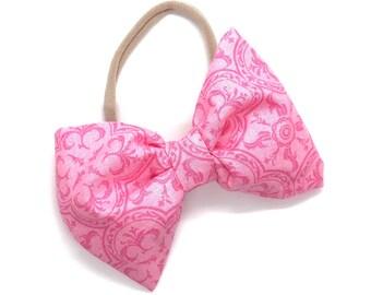Nylon baby headband - fabric bows, hair bows, baby headband, baby headband bows, girls hair bows, hair bows for women