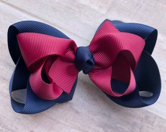 School uniform boutique hair bow - hair bows, girls bows, big hair bows, toddler hair bows, stacked bows
