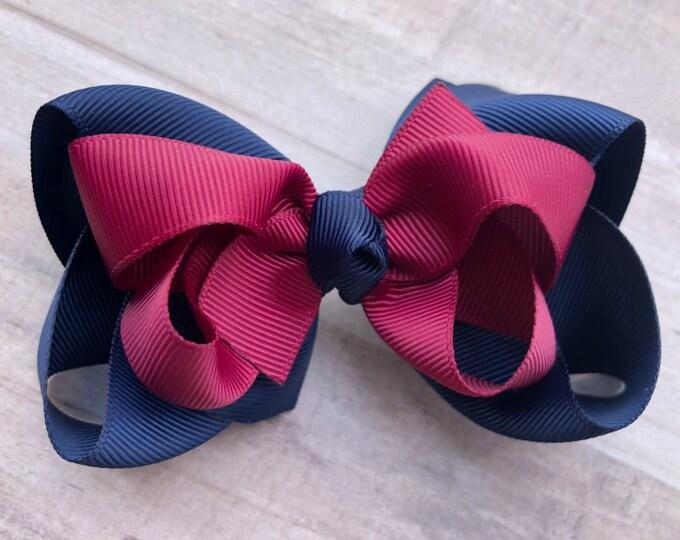 School uniform boutique hair bow - hair bows, girls bows, big hair bows, toddler hair bows, stacked bows