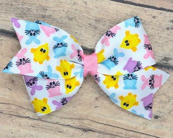 Easter hair bow - hair bows, girls bows, toddler bows, baby bows, 4 inch hair bows