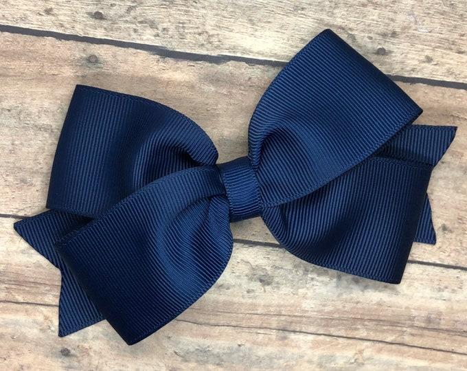 YOU PICK color hair bow - hair bows, girls bows, baby bows, girls hair bows, 4 inch hair bows, pinwheel bows, toddler bows, girl bows, bows
