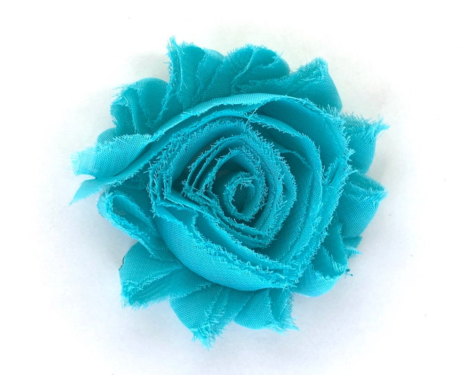 Flower hair clip - Turquoise flower hair clip, hair bows, bows for girls, baby bows, hair clips for girls, baby hair clips, bows