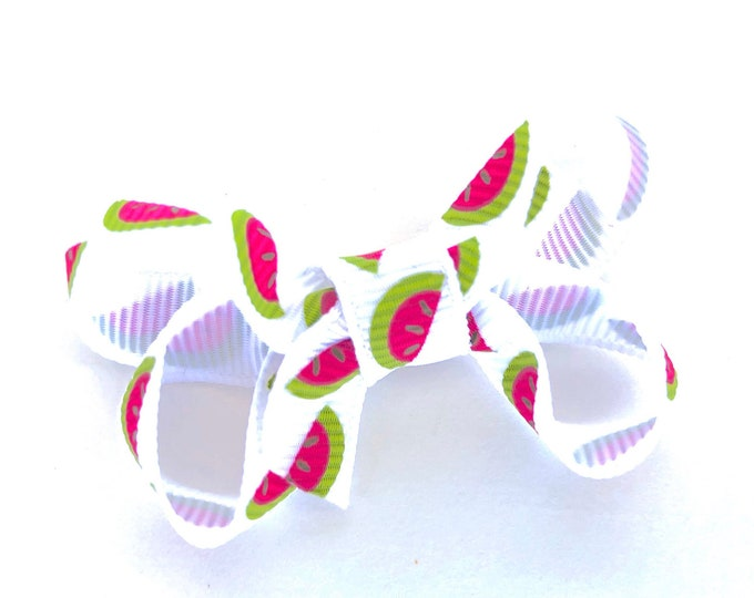 Watermelon baby bow - hair bows, baby bows, bows for girls, toddler hair bows, pigtail bows, baby girl bows