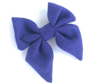 Purple sailor hair bow - sailor bows, hair bows, girls hair bows, girls bows, toddler hair bows, baby hair bows, fabric hair bows, bows