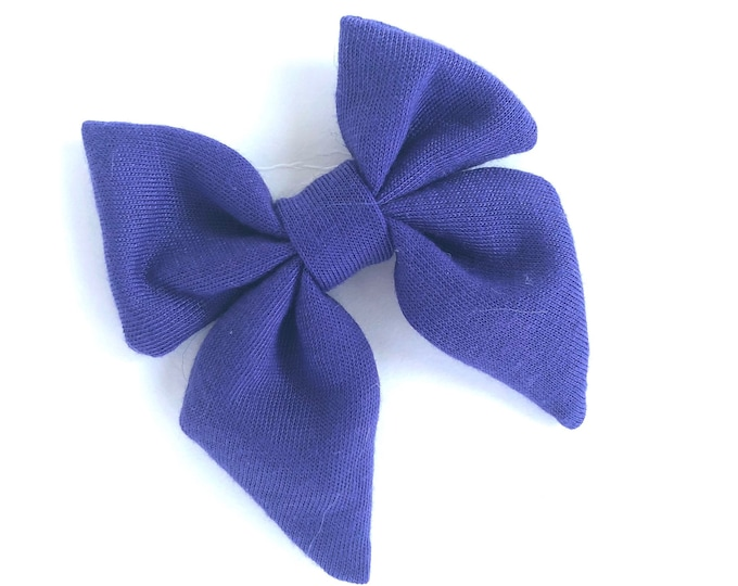 Fabric hair bow - sailor bows, hair bows, bows for girls, baby bows, girls hair bows, baby hair bows