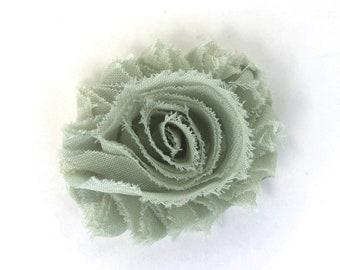 Flower hair clip - Sage green, hair clips, hair bows, hair bows for girls, baby bows, hair clips for girls, baby hair clips, bows