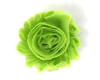 Flower hair clip - Lime green, hair clips, hair bows, bows for girls, baby bows, hair clips for girls, baby hair clips