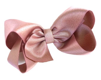 Rose gold hair bow - hair bows, bows, hair clips, satin bows, hair bows for girls, baby bows, baby hair bows, hair clips for girls, toddler