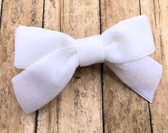 Velvet hair bow - hair bows, girls bows, velvet bows, toddler bows, baby bows, nylon headbands
