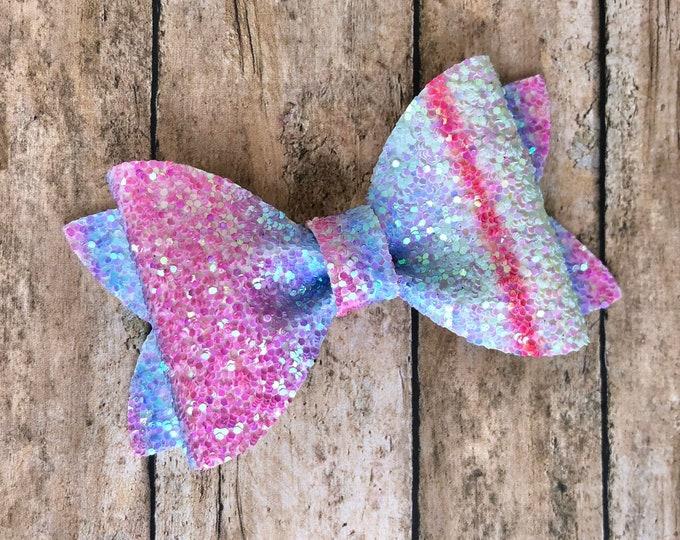 Glitter hair bow - glitter bow, hair bows, baby bows, girls hair bows, toddler bows, hair clips, baby headband