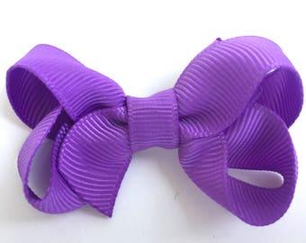 Small lilac hair bow - purple hair bows, bows for girls, baby bows, toddler bows, small bows