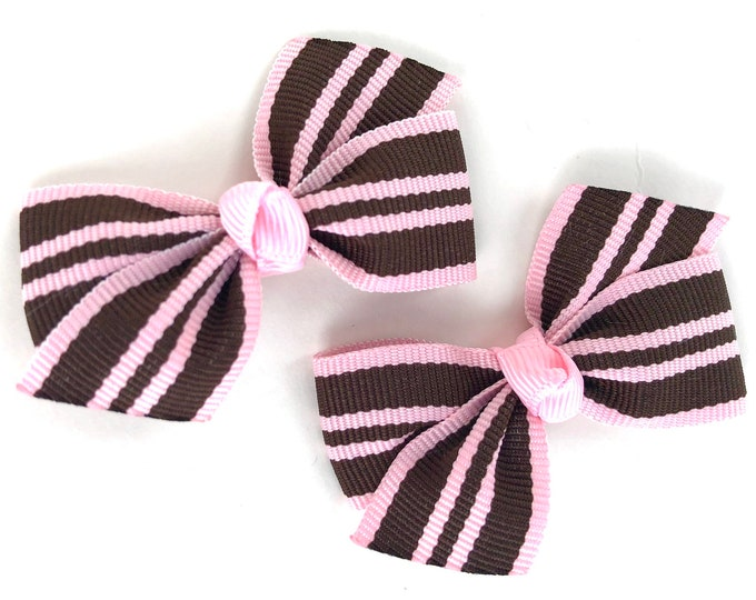Pigtail bows - hair bows, bows for girls, baby bows, baby hair bows, toddler hair bows, small bows