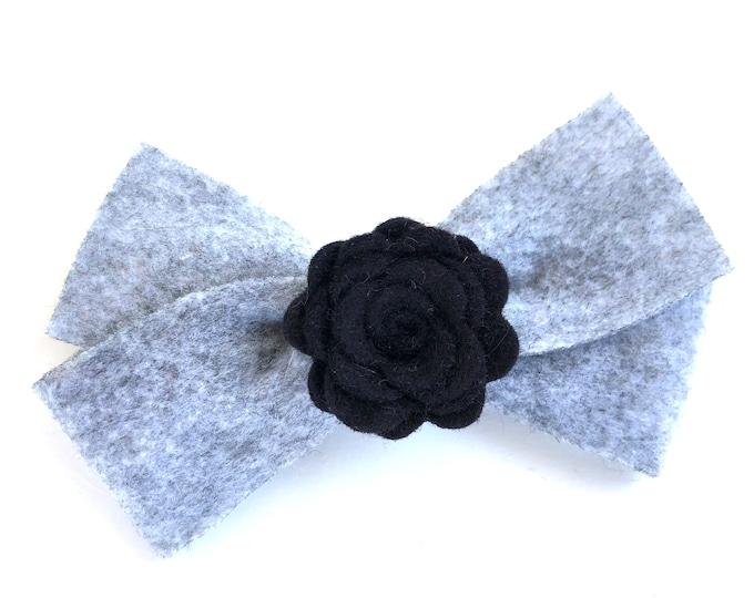 Felt hair bow - felt bow, hair bows, bows for girls, hair clips, baby bows, baby hair bows, toddler bows, girls bows