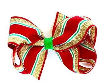 Christmas hair bow - hair bows, girls bows, toddler hair bows, 4 inch hair bows, Christmas bows