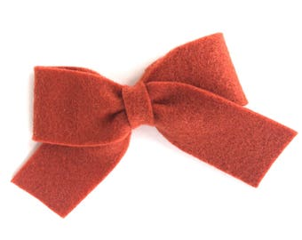 Rust sailor bow - felt hair bow, hair bows, bows, hair bow, hair clips, felt hair clip, hair clip, hair clips for girls, baby bows, hairbows