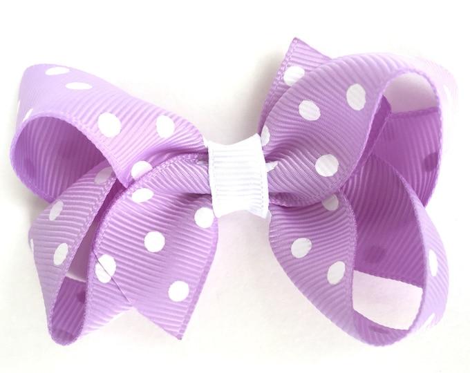 Light purple hair bow - hair bows, bows for girls, baby bows, baby hair bows, pigtail bows, toddler hair bows
