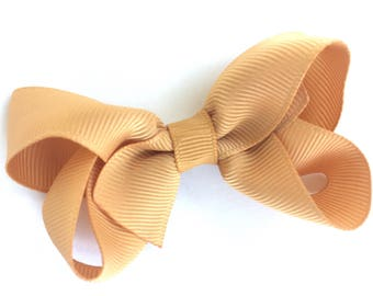 Gold hair bow - hair bows, baby bows, bows for girls, toddler hair bow, pigtail bows, hair clips