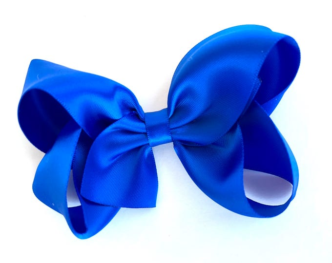 Satin hair bow - Royal Blue hair bows, hair bow, bows for girls, hair clips, baby bows, girls hair bows, toddler bows