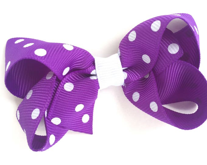 Purple hair bow - hair bows for girls, baby bows, pigtail bows, toddler hair bows, boutique bows