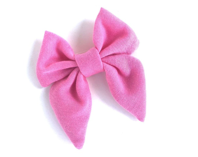 Fabric hair bow - sailor bows, hair bows, girls hair bows, hair bows for girls, toddler hair bows, baby hair bows, fabric bows