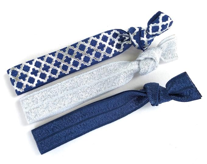 Set of 3 elastic hair ties - hair ties, ponytail holders, no crease hair ties, hair accessories
