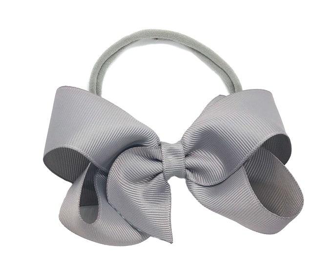 Baby headband - baby headband bows, baby bows, nylon headband, newborn headbands, baby girl headbands, hair bows