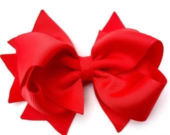 YOU PICK color hair bows - 4 inch hair bows, hair bows, girls bows, girls hair bows, toddler bows, boutique bows, hair bows, baby bows, bows