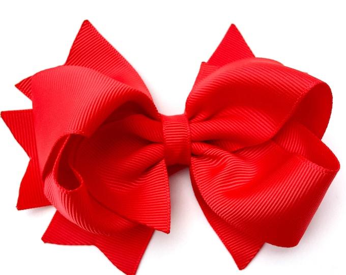 YOU PICK color hair bows - 4 inch hair bows, hair bows, girls bows, girls hair bows, toddler bows, boutique hair bows, hair bows for girls