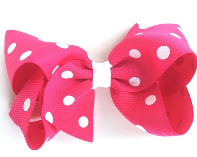 Hot pink hair bow - hair bows, bows for girls, baby bows, toddler bows, pigtail bows, girls bows, girls hair bows, boutique bows