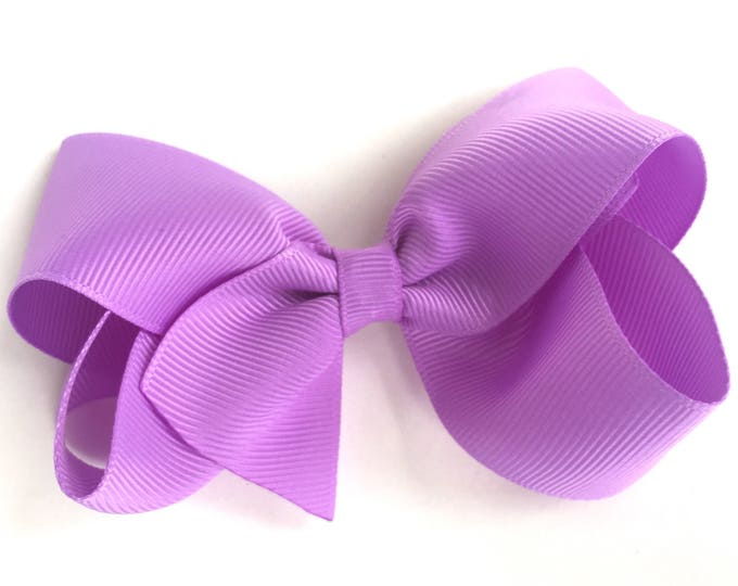 Boutique hair bow - lavender hair bow, hair bows for girls, baby bows, toddler bows, pigtail bows, boutique bows, big hair bows