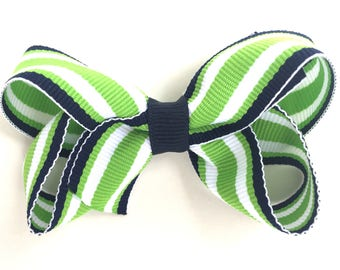 Girls hair bow - hair bows, girls bows, baby bows, toddler bows, pigtail bows, 3 inch bow, hair clips