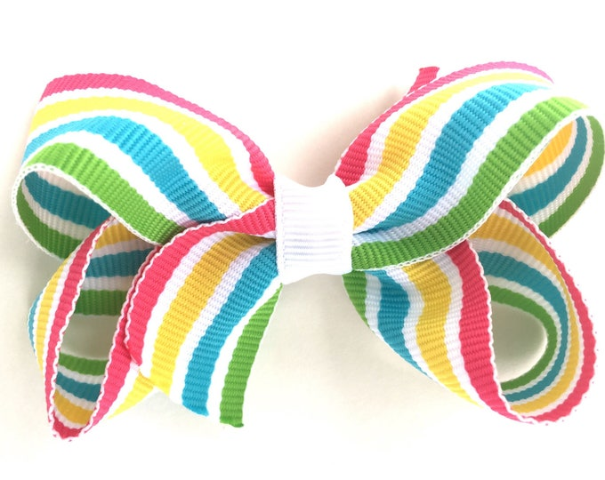 Boutique hair bow - hair bows, bows for girls, pigtail bows, toddler bows, 3 inch hair bows