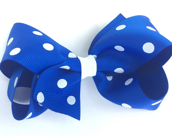 Royal blue hair bow - hair bows, bows for girls, baby bows, girls hair bows, toddler hair bows, hairbows, boutique