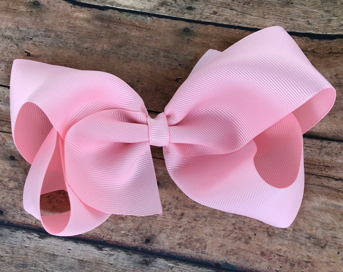Large hair bow - 6 inch hair bows, hair bows, baby pink hair bow, cheer bows, big hair bows, girls hair bows