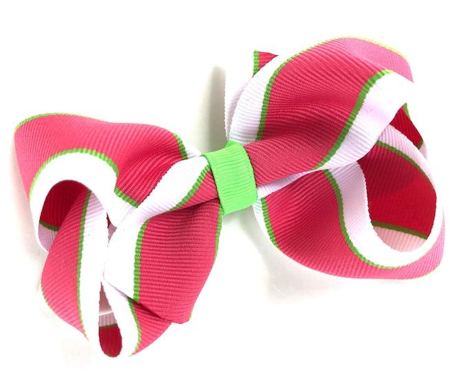 Girls Hair bow - hair bows, bows for girls, toddler hair bows, girls bows, 4 inch hair bows, big bows