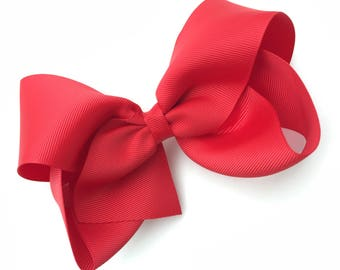 Extra large 6 inch red hair bow - 6 inch hair bow, cheer bows, big bows, hair bows, hair bows for girls, big hair bow, girls bows