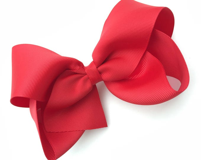 Large 6 inch hair bow - red hair bow, cheer bows, big bows, hair bows, hair bows for girls, big hair bow, girls bows