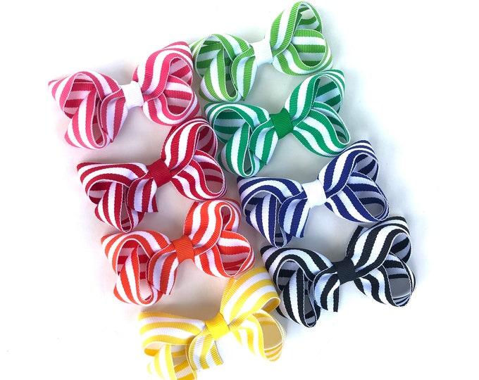 Hair bows for girls - hair clips, baby bows, pigtail bows, toddler hair bow, 3 inch hair bows