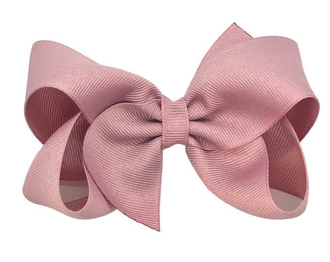 Mauve hair bow - hair bows, hair clips, girls bows, hair bows for girls, girls hair bows, toddler bows, boutique bows