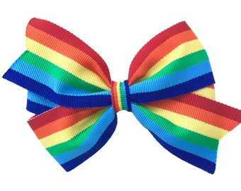 Rainbow hair bow - rainbow bow, hair bows, bows, hair bows for girls, rainbow hair bows, girls hair bows, baby bows, toddler hair bows
