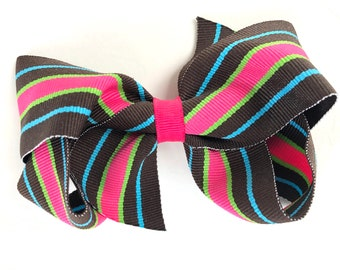 Summer hair bow - hair bow, hair bows, bows, hair bows for girls, hair clips, baby bows, toddler hair bow, hair clips for girls, hairbows