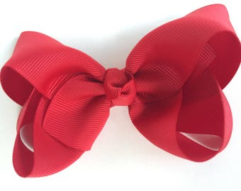 SET of 3 hair bows - 4 inch hair bows, hair bows, bows for girls, baby bows, toddler hair bows, boutique bows