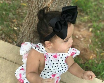 Extra large 6 inch bow headband - 6 inch bows, baby headband, big bow, large hair bows, girls hair bows, toddler bows, girls bows, hai