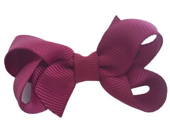 Burgundy hair bow - hair bow, hair bows, bows, baby bows, baby hair bows, hair bows for girls, toddler bows, pigtail bows, girls hair bows