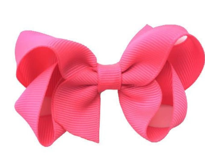 Pink hair bow - hair bows for girls, baby bows, girls bows, toddler hair bows, boutique bows, 3 inch hair bow