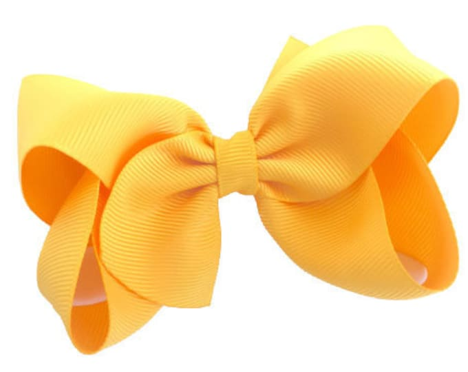 Yellow gold hair bow - hair bows for girls, baby bows, girls bows, toddler hair bows, 4 inch hair bows