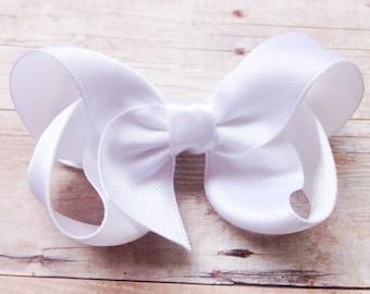 YOU PICK color satin hair bow - satin bows, hair bows, girls bows, baby bows, toddler hair bows, 3 inch hair bows