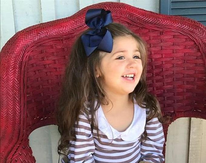 YOU PICK hair bows - 5 inch hair bows, hair bows for girls, toddler hair bows, girls bows, boutique bows, big hair bows